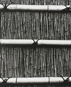 ominousgenre:  Section of bamboo fence at Katsura Imperial Villa, Kyotophotograph by Iwamiya Takeji Taken from Japan Style by Gian Carlo Calza