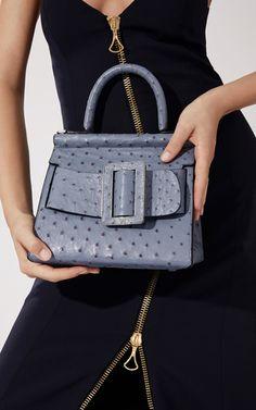 Ostrich Karl Top Handle Bag 24cm by BOYY for Preorder on Moda Operandi  กระเป๋าแบรนด์เน f2f0090840