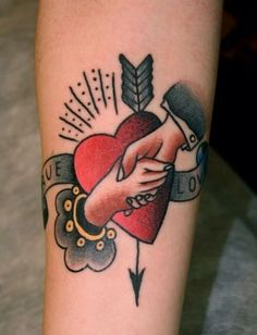 shaking hands tattoo. This WILL be on my body someday. :)