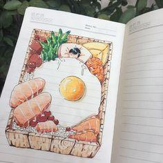 甘い夢 甘い夢~ Guess u can tell that I was starving (•\\.\\•)? Was hungry so a Comfort food sketch was inevitable.