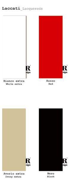 Collezione LACCATI / LACQUERED Collection di #MRartdesign