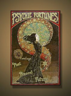 Psychic Fortunes Print  Art Nouveau Gypsy Circus by EmilyBalivet, $85.00
