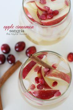 Apple Cinnamon Sangria, Holiday Drink Ideas, Holiday Drink Recipes, Apple Sangria
