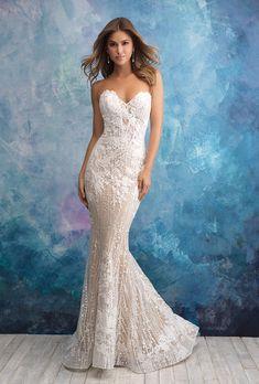 203598a8f490 Allure Bridals 9550. Allure BridalsStrapless Sweetheart NecklineChapel  TrainFit And Flare Wedding DressFormal ...