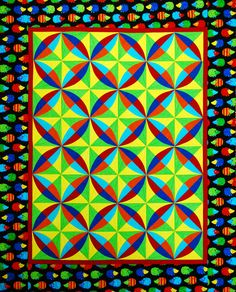 """""""Circle Burst"""" from C&T Publishing's book """"Flip & Fuse Quilts"""" by Marcia Harmening of Happy Stash Quilts"""