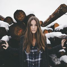 Marvelous Outdoor Portrait Photography by Samuel Elkins #inspiration #photography #SnowPhotography