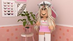 Cute Tumblr Wallpaper, Cute Girl Wallpaper, Roblox 3, Roblox Animation, Intro Youtube, Acrylic Nails Coffin Short, Roblox Pictures, Aesthetic Girl, Cute Girls