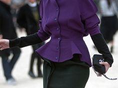 Love this jacket.  Paris Fashion Week Street Style F/W 2012, Day 5
