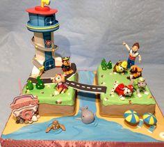 Torta de la Patrulla Canina. Perfecto para una celebración temática.#Pawpatrol #tarta