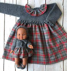 Little Girl Dresses, Little Girls, Girls Dresses, Kids Fashion, Winter Fashion, Knitted Dolls, Baby Knitting Patterns, Winter Wear, Baby Dress
