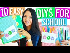 DIY BACK TO SCHOOL SUPPLIES 2016! + What's in my Emergency Kit for School! Pencil Pouch / Case! - YouTube