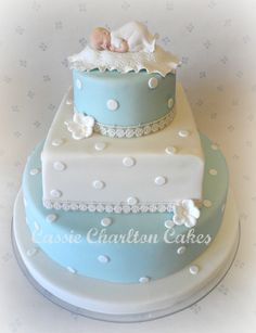 13 Baptism Cake Designs For Baby Boy 6 Baby Boy Christening Cake, Baby Boy Cakes, Cakes For Boys, Baby Shower Cakes, Baby Baptism, Baptism Ideas, Cupcakes, Cupcake Cakes, Confirmation Cakes