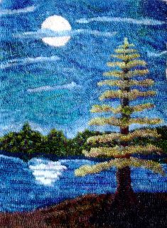 evergreen trees for rug hooking Rug Hooking Designs, Rug Hooking Patterns, Punch Needle Patterns, Latch Hook Rugs, Rug Inspiration, Landscape Quilts, Nice Landscape, Hand Hooked Rugs, Penny Rugs