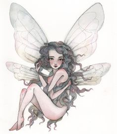 Character Design, Fairy, Black And White, Tattoos, Drawings, Artist, Prints, Anime, Painting