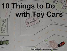 10 fun ways to play with toy cars -- There's Just One Mommy