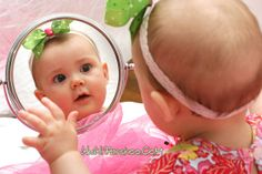 Mirror, mirror, am I the cutest baby in the world?