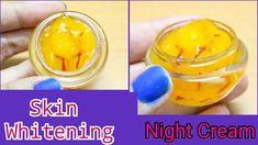 Skin whitening night cream with saffron