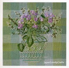 Embroidery of Garden Flowers Japanese Stitch by JapanLovelyCrafts