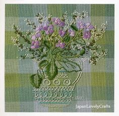 Embroidery of Garden Flowers Hand Embroidery by JapanLovelyCrafts