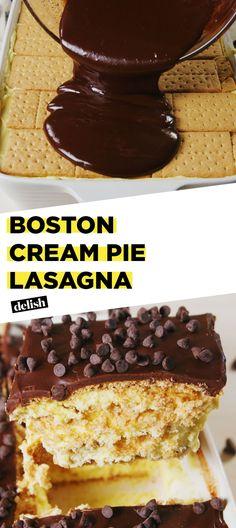 Boston Cream Pie Lasagna Is The Dessert Of DreamsDelish