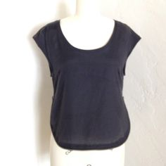 Black Silence & Noise shirt This shirt has zippers on both sides for customizing fit. Lightly used. silence + noise Tops