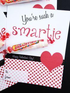 Smartie valentine cards | CatchMyParty.com