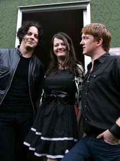 Jack, Meg and Josh Homme