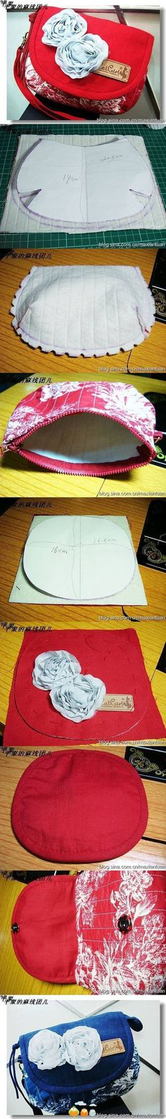 How to Make Stylish Fabric Handmade bags - Simple Craft Ideas Diy Handbag, Diy Purse, Handbag Tutorial, Purse Patterns, Sewing Patterns, Sacs Tote Bags, Diy Sac, Craft Bags, Mini Handbags