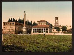 Roma nelle prime foto a colori: San Lorenzo  1890