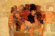 salvadoranarthistory:  Noé Canjura| 1924-1973| Salvadoran La terraza| 1967| Óleo