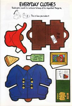 Paddington's Dress-Up Book was published by Carnival in London in 1992.