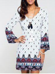 SHARE & Get it FREE | Casual Flare Sleeve Drawstring Print DressFor Fashion Lovers only:80,000+ Items • New Arrivals Daily • Affordable Casual to Chic for Every Occasion Join Sammydress: Get YOUR $50 NOW!