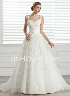 Wedding+Dresses+-+$268.99+-+Ball-Gown+Sweetheart+Court+Train+Tulle+Wedding+Dress+With+Beadwork+Appliques+Flower(s)+(002005283)+http://jjshouse.com/Ball-Gown-Sweetheart-Court-Train-Tulle-Wedding-Dress-With-Beadwork-Appliques-Flower-S-002005283-g5283