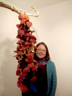Kim Winter is an artist exploring structures and processes in nature using basketry, natural dyeing and felting techniques. Shibori, Upcycle, Make It Yourself, Christmas Ornaments, Holiday Decor, Create, Fabric, Inspiration, Craft Ideas