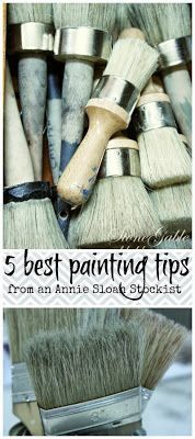 GREAT PAINTING TIPS FROM AN ANNIE SLOAN STOCKIST Fabulous and smart tips! #painting #chalkpaint