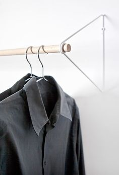 Fifti-fifti's Spring Simplifies The Wardrobe Into A Wall-mounted Clothes Rail | Decor 10 Creative Home Design