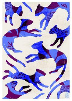 A5 A4 A3 Artprint Pantera Motifs Emotifs serie par IzumiIdoia