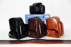 """Amazon.com: MegaGear """"vždy připraven"""" Ochranné kožené pouzdro pro fotoaparát taška pro Canon PowerShot SX50 HS (Dark Brown): Camera & Photo"""