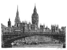 Houses of Parliament - Stephen Wiltshire is an artist with autism who recreates hyper-detailed pen drawings of cityscapes. Detailed Drawings, Amazing Drawings, Stephen Wiltshire, Houses Of Parliament, A Level Art, Landscape Drawings, Urban Landscape, Art Gallery, Fine Art