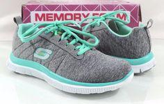 Women's Shoe Skechers Flex Appeal NEXT GENERATION Running Sneakers Grey Size 5.5 #Skechers #RunningCrossTraining