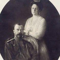 The last Tsar and Tsarina of Russia, Nicholas ll and Alexandra.