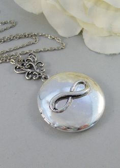 Antique Infinity,Locket,Necklace,Silver Locket,Filigree,Infinity,Infinite Necklace,Antique Locket. Handmade jewelry by valleygirldesigns. on Etsy, $34.00