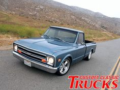 Check out Dave Kuma of Kuma Tires 1968 Chevy Truck with a Holley Street Avenger carburetor and a Edelbrock intake manifold, only at Custom Classic Trucks Magazine. 67 Chevy Truck, Classic Chevy Trucks, Chevy C10, Chevy Pickups, Chevrolet, Classic Cars, Lowered Trucks, C10 Trucks, Pickup Trucks
