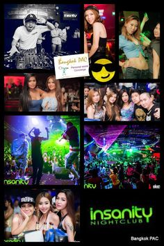 Insanity - Built 2011 the latest in sound and lighting, big sounds, pulsating lights and some of the hottest and greatest International DJ's. Night Club, Night Life, Bangkok Thailand, Wow Products, The Good Place, Tourism, Bad Girls, Lighting, Movie Posters