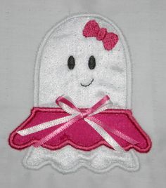 Girl Ghost Applique Machine Embroidery Design by SewChaCha on Etsy, $3.50