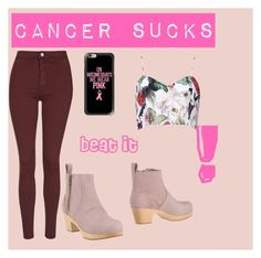"""cancer sucks!!!"" by squishypumpking on Polyvore featuring Topshop, Casetify and Swedish Hasbeens"