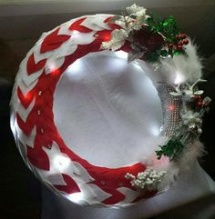 """The """"Be A Deer & Pass Me My Fiddle"""" wreath w/white lights by Sabrina Bess  LMW"""