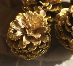 Gold Glitter Pine Cones Metallic Gold Pinecones by Teakberry Pine Cone Decorations, Wedding Decorations, Christmas Decorations, Gold Glitter, Metallic Gold, Custom Journals, Handmade Items, Handmade Gifts, Pine Cones