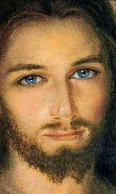 Yesterday i want to see  His face . I IMAGINE if i could stand seeing him while im alive or is it, i have to be dead but i just want to see Jesus Mama Mary Holy Souls in Purgatory. And here is it a beautiful rendition of His face on pinterest.