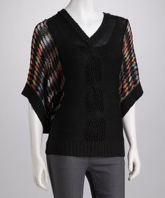 Take a look at this Black V-Neck Dolman Top by High Secret on #zulily today! $35.99, regular 79.00
